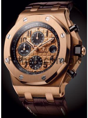 Audemars Piguet Royal Oak Chronograph Pink Gold Dial Watch Price in Pakistan