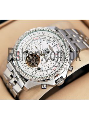 Breitling for Bentley Motors Tourbillon Automatic White Dial Watch Price in Pakistan
