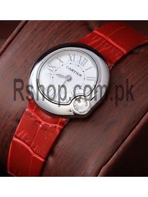 Cartier Ballon Bleu Red Straps Ladies Watch Price in Pakistan