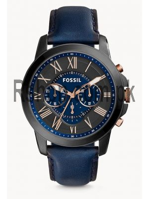 Fossil Grant Chronograph Black and Blue Dial Men's Watch  (Swiss Watch) Price in Pakistan