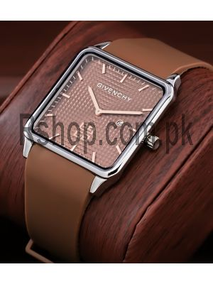 Givenchy Brown Dial Square Ultra Slim Watch Price in Pakistan