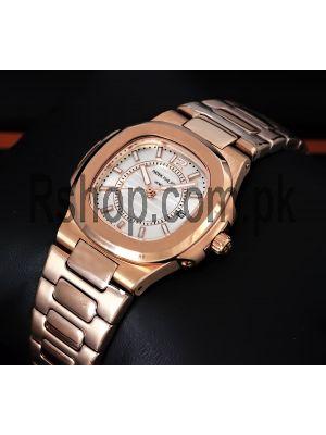 Patek Philippe Nautilus White Dial Ladies Watch Price in Pakistan