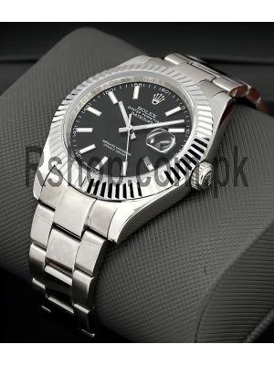 Rolex Datejust Rolesor 41  Black Dial Watch Price in Pakistan