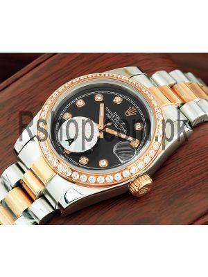 Rolex Lady-Datejust Diamond Dial Two Tone Watch Price in Pakistan