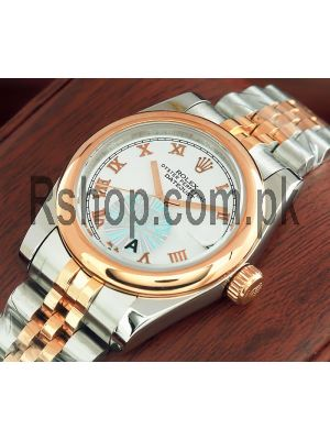 Rolex Lady-Datejust Two Tone Watch Price in Pakistan
