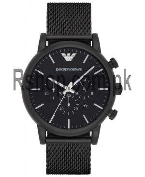 Emporio Armani AR1968 Black IP Mesh Chronograph Watch AR1968  (Same as Original) Price in Pakistan