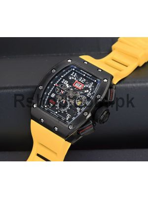 Richard Mille RM-011 Yellow TPT Quartz Automatic flyback chronograph Watch Price in Pakistan