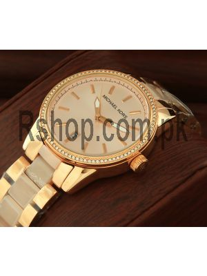 Michael Kors Women's Ritz Rose Gold Tone Watch Price in Pakistan