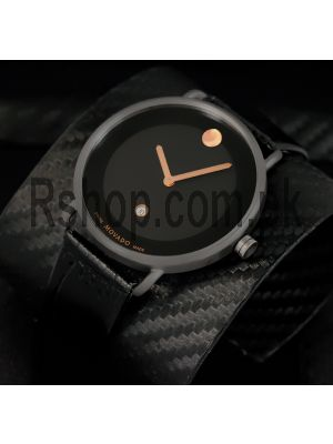 Movado Museum Black Dial Black Leather Watch Price in Pakistan