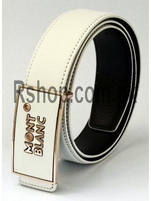Montblanc White Replica Belt Price in Pakistan